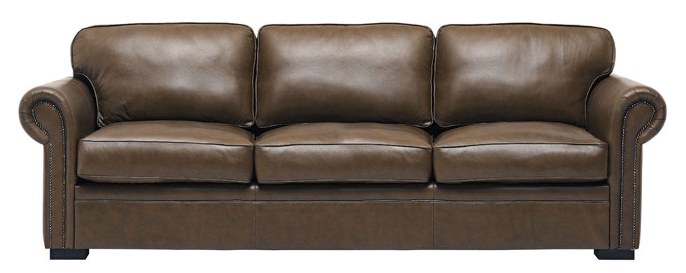Leather Lounge Brown