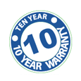 Ten years warranty