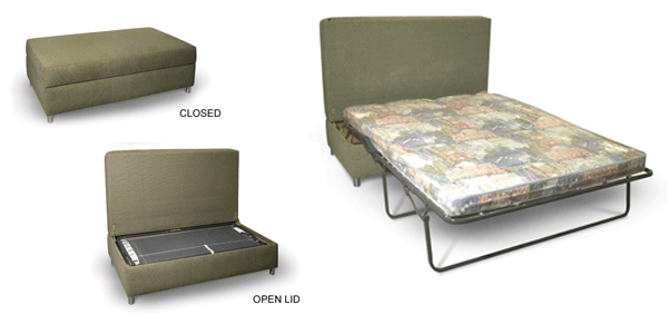 Chilli pip furniture sofabed ottoman for Sofa bed ottoman